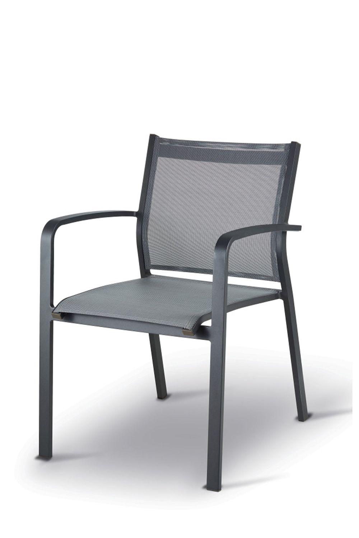 Tt936 silla con reposabrazos de aluminio y textilene for Sillas con reposabrazos