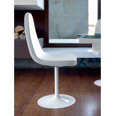 Blade-P - Sedia girevole Domitalia in metallo, seduta imbottita con rivestimento in similpelle