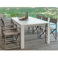 Chic - T2 - Aluminium table for garden, available in several sizes