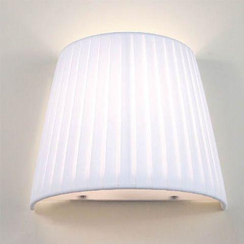 FA2960P - Lampada da parete in metallo e tessuto plissettato, in ...