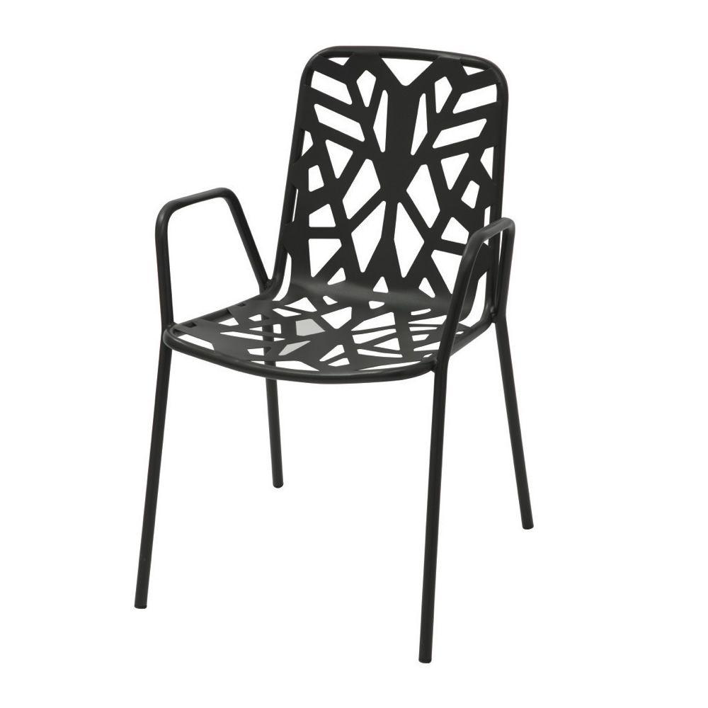 Rig71p silla met lica con reposabrazos apilable para - Silla metalica apilable ...