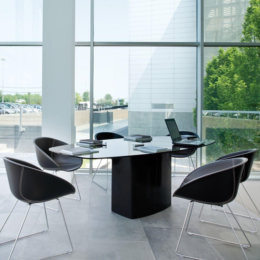 aeror designer tisch pedrali aus metall platte aus. Black Bedroom Furniture Sets. Home Design Ideas
