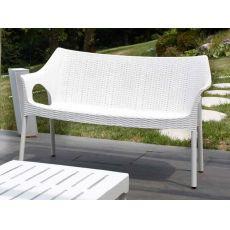 Olimpo Sofa 1252 - Divano in alluminio e tecnopolimero, impilabile, disponibile in diversi colori, per giardino