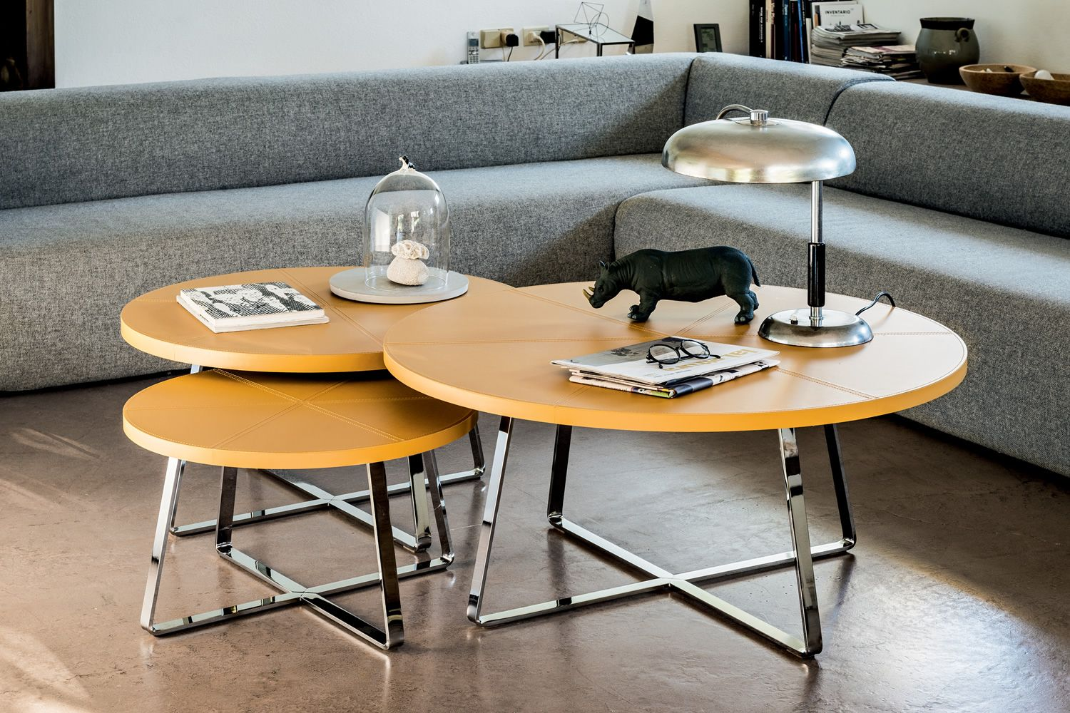 Dj Midj Coffee Table With Round Hide Top Different Colours And Sizes Sediarreda Online Sale
