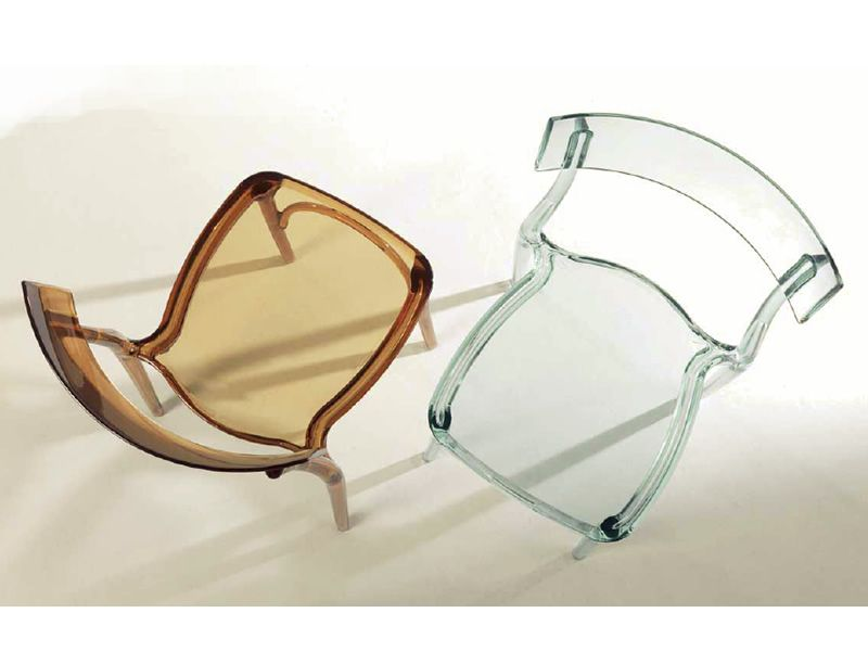 Milano 2015: Stuhl Colico aus transparentem Polycarbonat ...