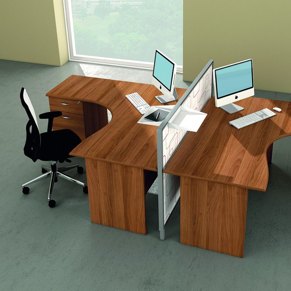 Mega panel 01 scrivania per ufficio con penisola e - Scrivanie usate per ufficio ...