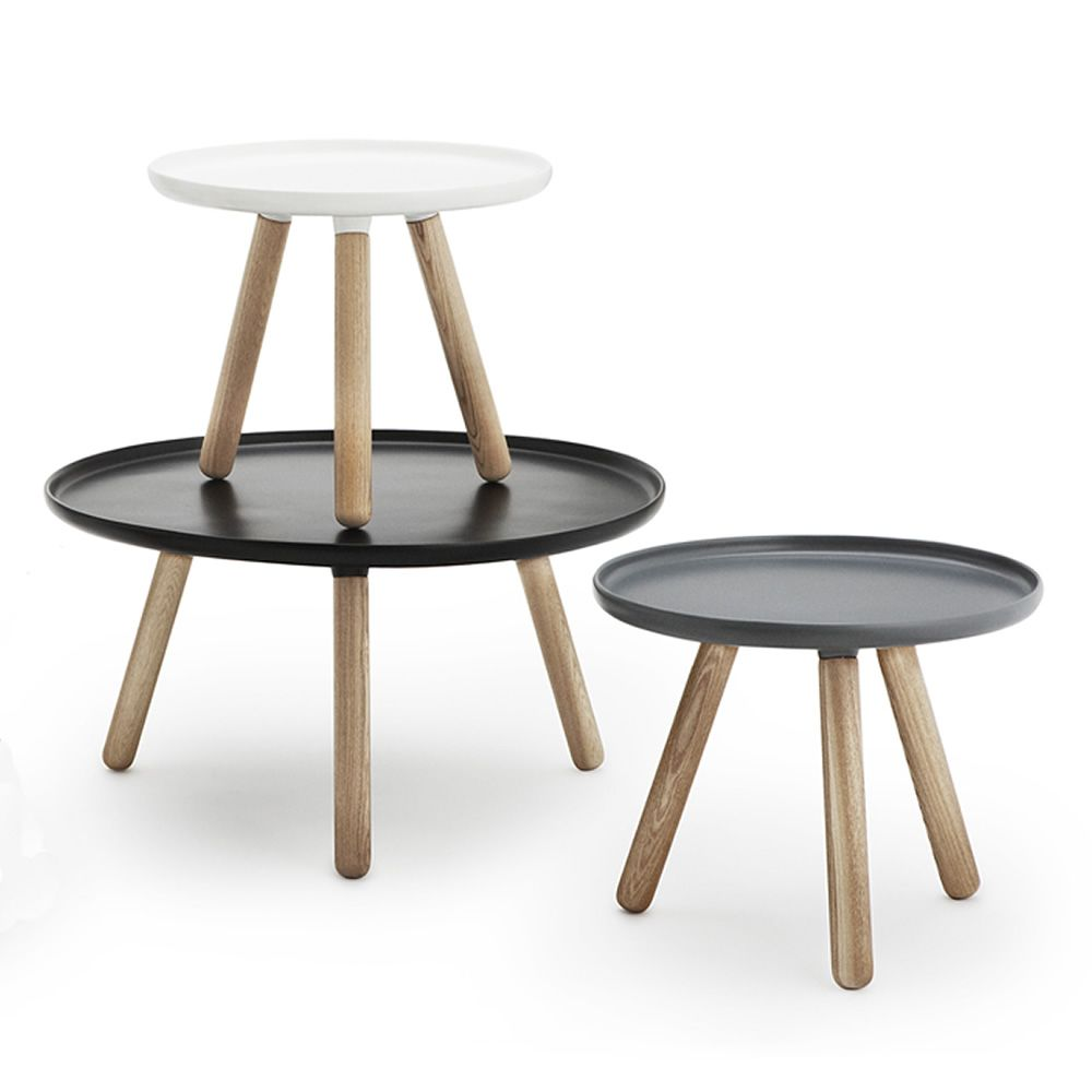 Tablo Normann Copenhagen Round Coffee Table In Wood With Top In Plastic Composite Different