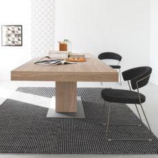 CB1022-EV New York - Silla Connubia - Calligaris de metal, asiento tapizado en tejido, en distintos colores