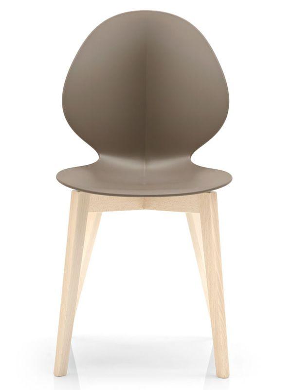 CS1348 Basil per Bar e Ristoranti - Sedia bar, in legno con seduta ...