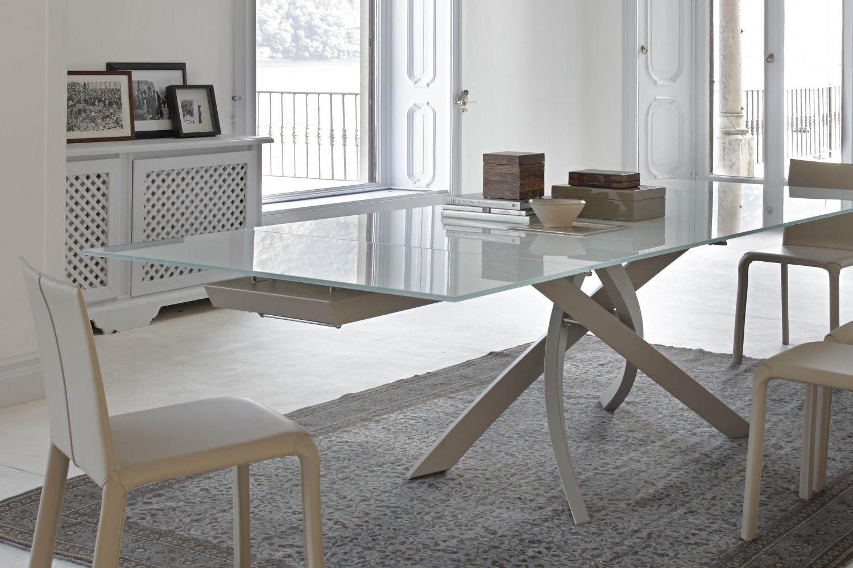 Artistico glass ext tavolo di design di bontempi casa for Design moderni della casa di vetro