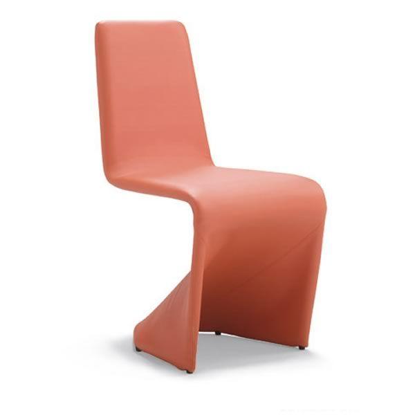 Kasper chaise design en simili cuir plusieurs couleurs for Chaise design en cuir
