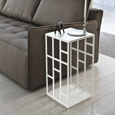 Manhattan - Tavolino di desing Bontempi Casa, con struttura in metallo e piano in vetro, diversi colori e altezze disponibili
