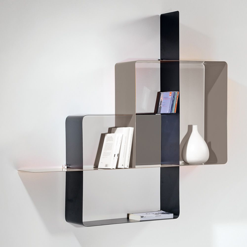 mondrian kombinierbares b cherregal aus lackiertem stahl. Black Bedroom Furniture Sets. Home Design Ideas