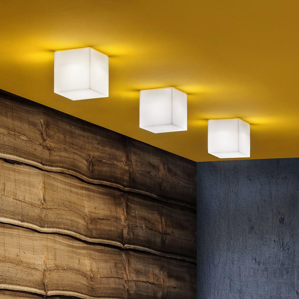 Beetle Cube - Lampada da soffitto con paralume in policarbonato, diversi colori e misure ...