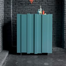 Stripe-L - Dall'Agnese living room furniture made of veneered wood and metal, two doors, different colours available