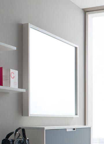 cinquanta q viereckiger spiegel mit holzrahmen 100x100 cm verschiedene farben sediarreda. Black Bedroom Furniture Sets. Home Design Ideas