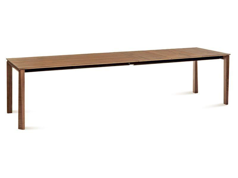 Hetre Bois Traduction : -160 W: Table Domitalia en bois, plateau en verre, c?ramique ou bois