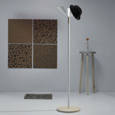 Juta - Coat hanger made of metal and wood or MDF, different finishes available