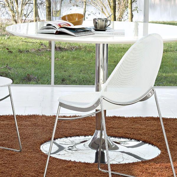 cs4005 s planet calligaris metalltisch mit holz oder. Black Bedroom Furniture Sets. Home Design Ideas