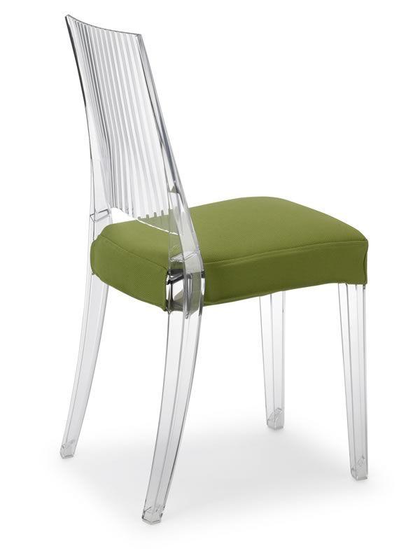Glenda 2360 sedia design in policarbonato impilabile for Sgabelli trasparenti
