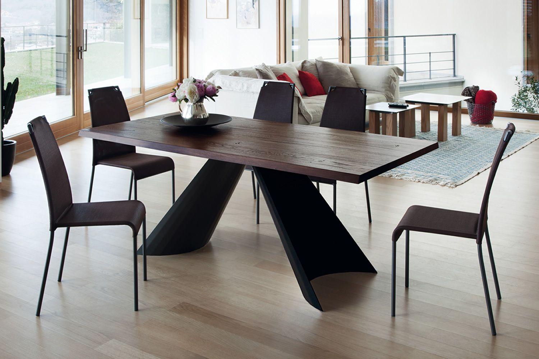 Tuile f   tavolo fisso domitalia in metallo, piano in legno o ...