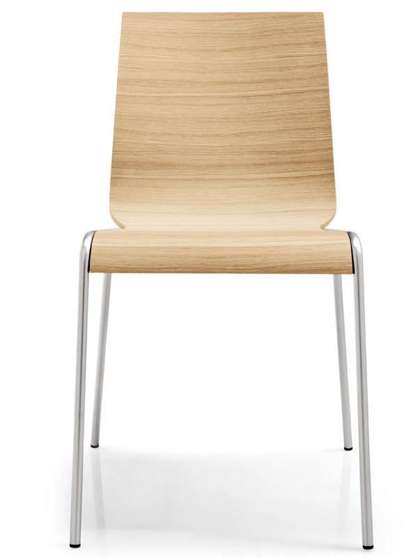 Cb102 online per bar e ristoranti sedia impilabile in for Sedie struttura acciaio satinato