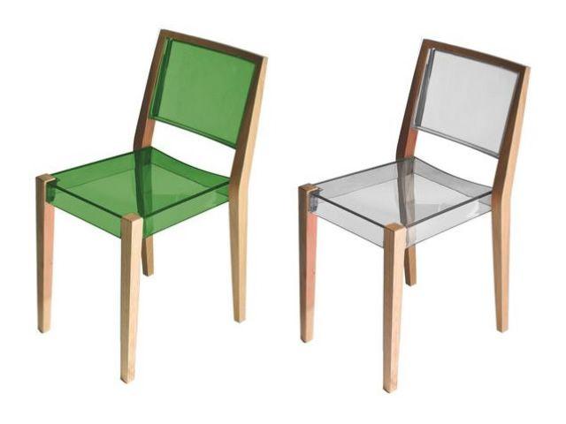 Together sedia design in rovere e tecnopolimero for Sedia a dondolo verde