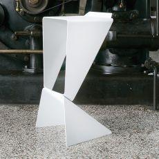 Icon - Sgabello di design B-Line, altezza seduta 74 cm, impilabile, in alluminio, anche per esterno, disponibile in diversi colori