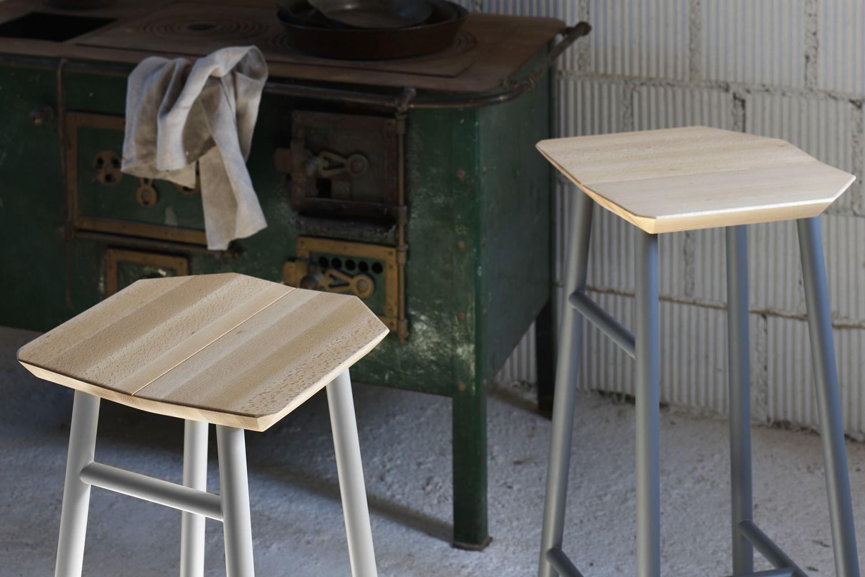 Dedo sgabello miniforms in metallo e legno disponibile in
