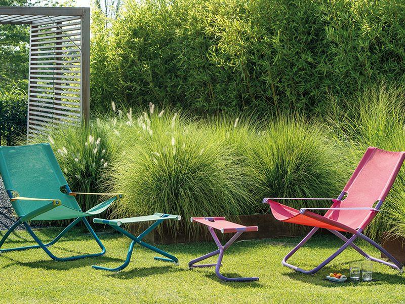 Liegestuhl Klappliegestuhl Metall Holz Oder Kunststoff ~ Liegestuhl mit Gestell in der Farbe Blau und Net in grün Minze oder