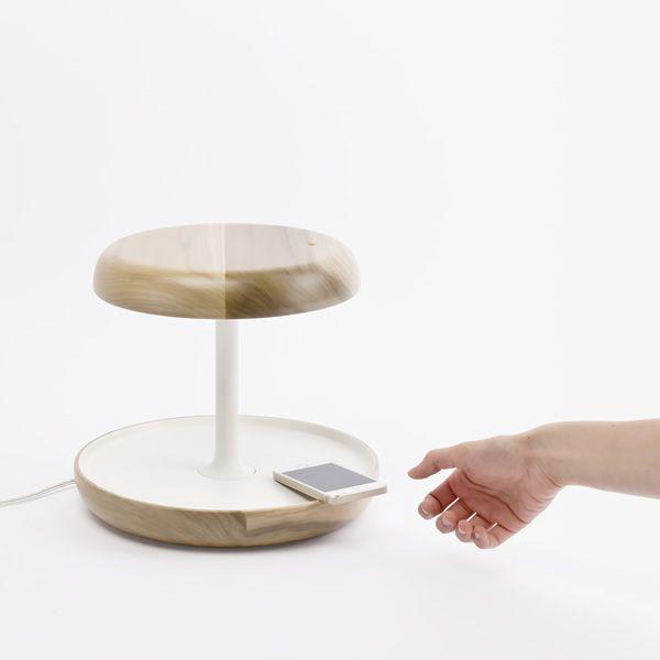 ciotole lampe led pour table avec vide poche et allumage tactile sediarreda. Black Bedroom Furniture Sets. Home Design Ideas