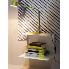 Queen - Hanging bedside table in iron, with 2 shelves, in several colours