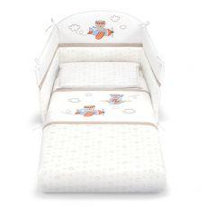 Aviatore set - Ensemble de lit bébé Pali avec tour de lit, couette déhoussable et taie d'oreiller