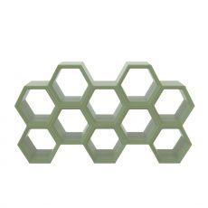 Hexa - Libreria modulare Slide in polietilene, diversi colori disponibili, anche per giardino