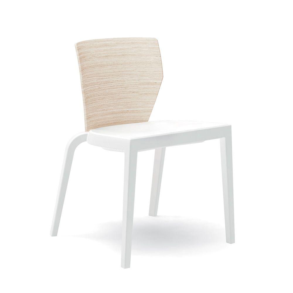 Bi chaise empilable infiniti en polypropyl ne dossier en - Chaise blanc d ivoire ...