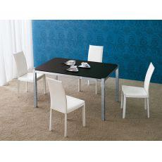 Corner - Tavolo Midj in metallo con piano in precomposto, 140 x 90 cm allungabile