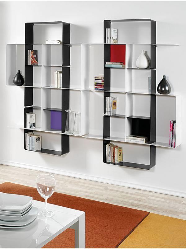 mondrian c7 kombinierbares b cherregal aus lackiertem. Black Bedroom Furniture Sets. Home Design Ideas