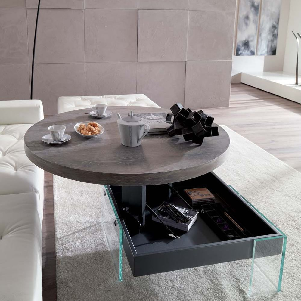 Bellagio petite table transformable et relevable en deux for Table basse transformable