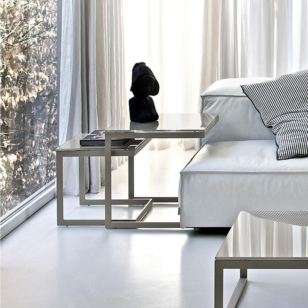 hip hop side petite table d 39 appoint bout de canap de bontempi casa pourvue de structure en. Black Bedroom Furniture Sets. Home Design Ideas