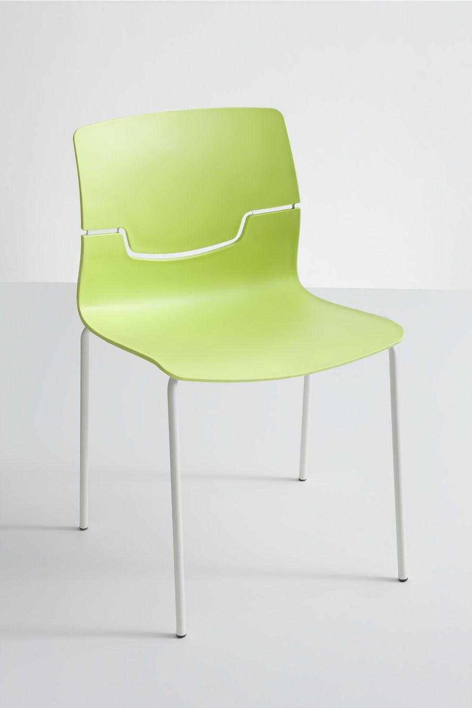 Slot sedia di design in metallo e tecnopolimero - Sedia di design ...