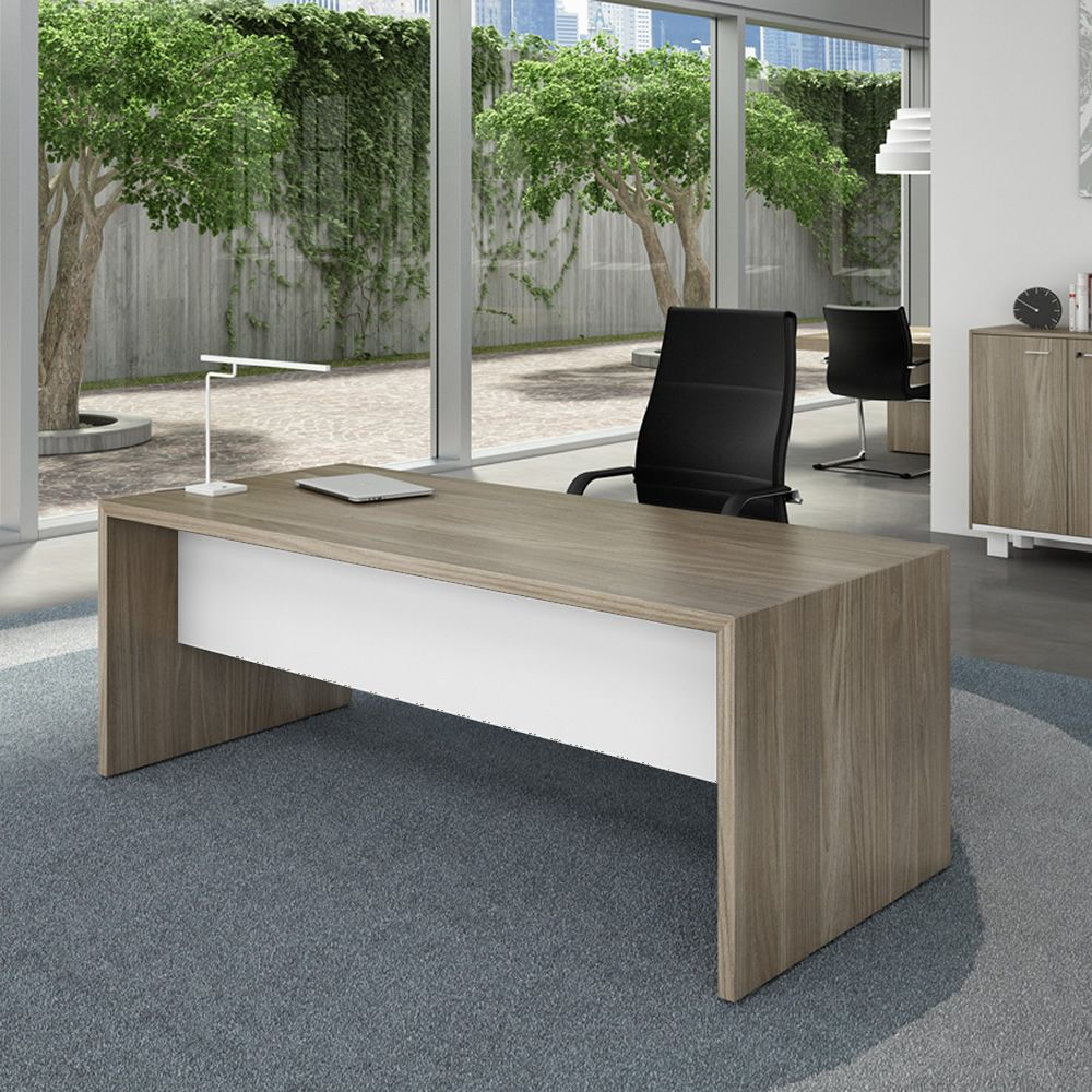 T desk 01 escritorio moderno para oficina en laminado for Sillones para escritorios oficina