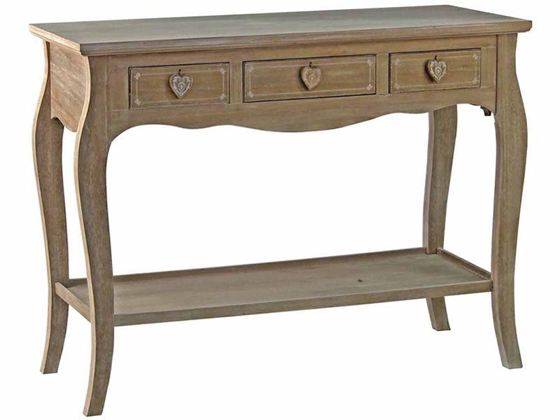 Ortigia consolle shabby chic in legno con cassetti for Consolle shabby chic