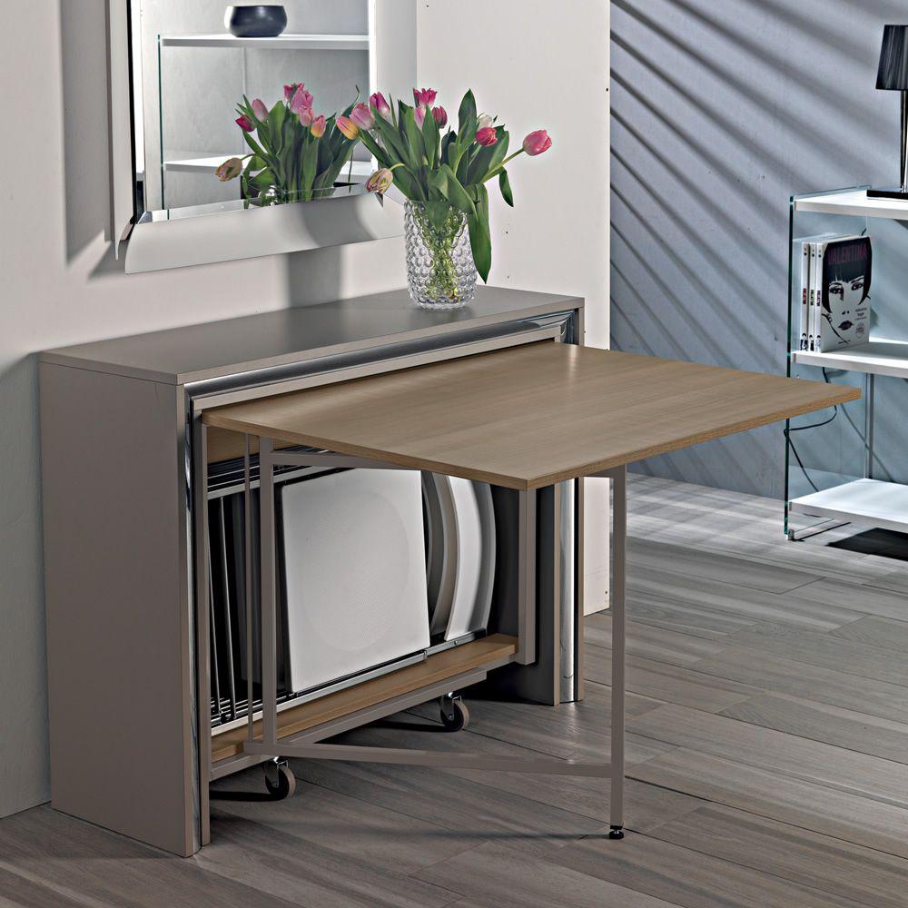 Tavolo E Sedie A Scomparsa.Archimede Console With Folding Table 170 X 90 Cm Sediarreda Com