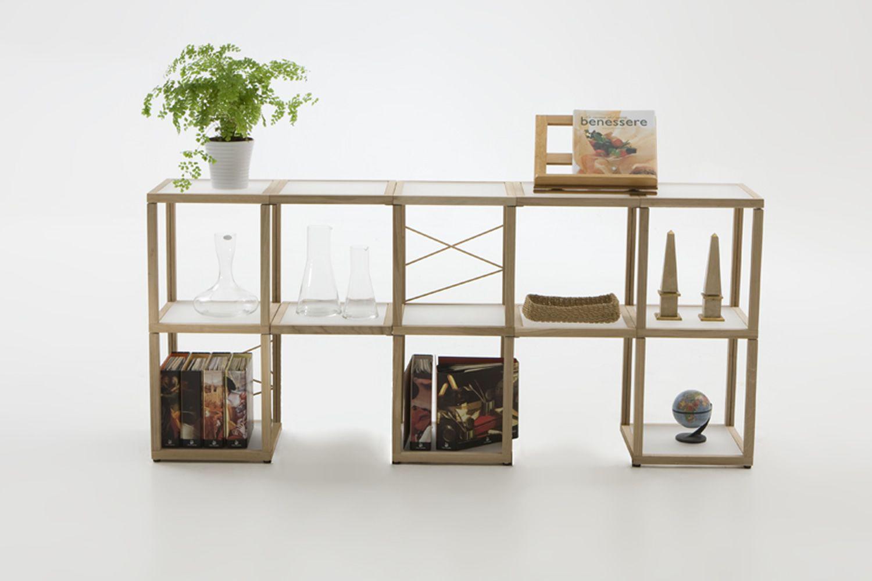 Zia Babele Ca Libreria Modulare Di Design In Legno Di Rovere Naturale Disponibile In Diverse