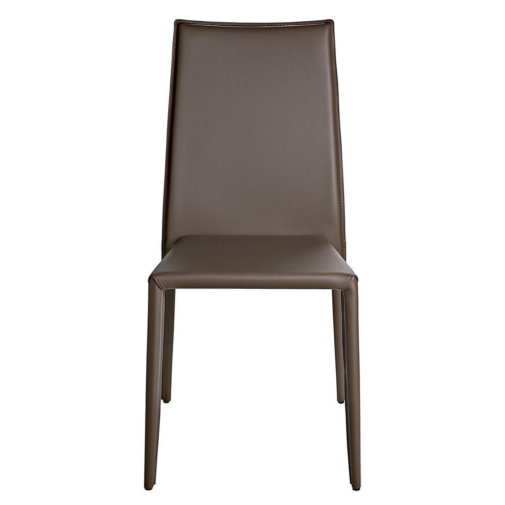 Vr58 sedia impilabile interamente rivestita in for Sedie cuoio rigenerato