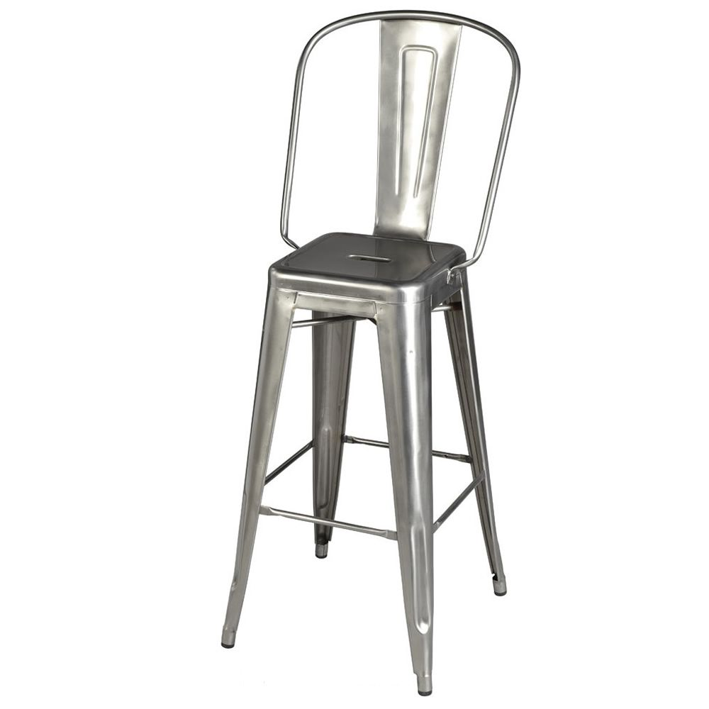 Hgd tolix design stool in metal stackable seat heigh for Chaise 70 cm