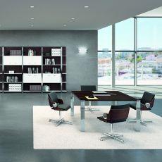 Office X7 Meet 01 - Tavolo per sala riunioni o grande scrivania, in metallo e laminato, disponibile in diverse dimensioni e finiture