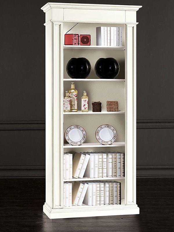 Euridice   libreria classica in legno, 93x40 cm, h. 205 cm ...