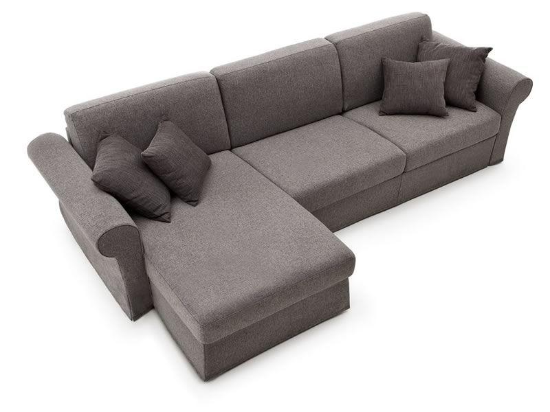 Lory - Divano letto classico a 2 o 3 posti maxi, con chaise longue ...