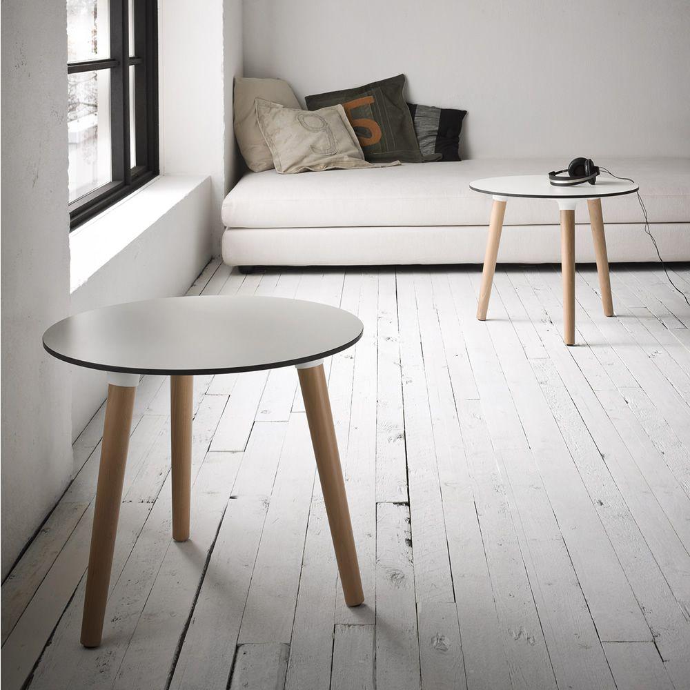 stefano 3 pod moderner beistelltisch aus buchenholz mit 3 beine gestell h he 50 cm mit. Black Bedroom Furniture Sets. Home Design Ideas